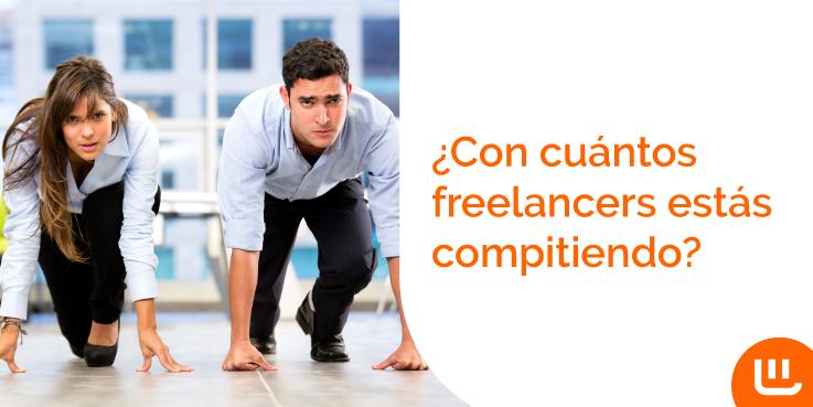 ¿Con cuántos freelancers estás compitiendo?